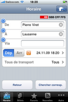 CFF iPhone app, le sésame du train national
