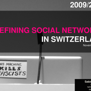 Defining Social Media CH 2009/2010