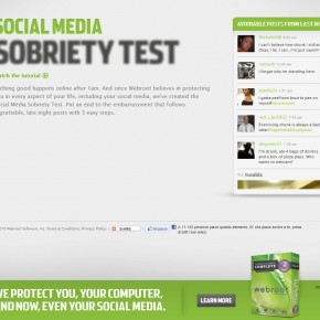 Avec modration: Social Media Sobriety Test