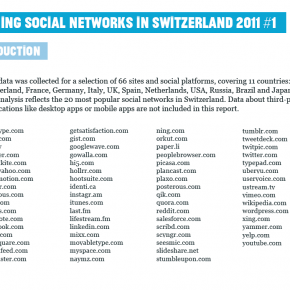 Prcision concernant l&#039;tude Defining Social Networks in Switzerland 2011#1